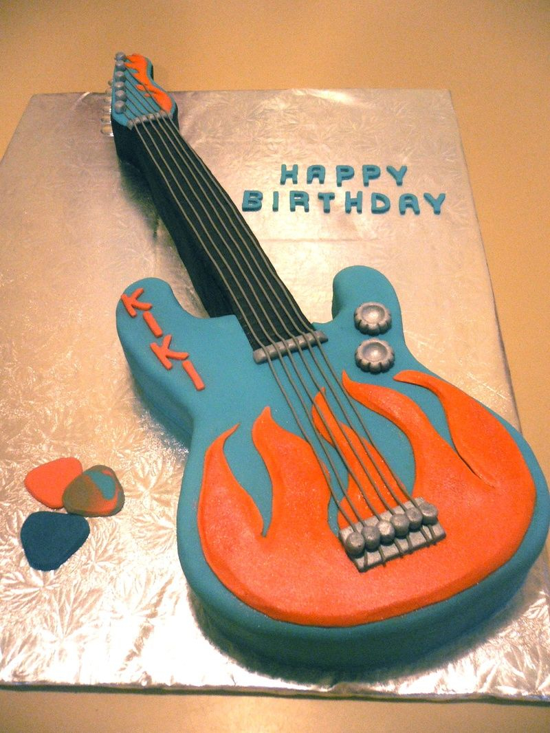 Guitar Birthday Cake I Would Like To Have For Stevens 16th