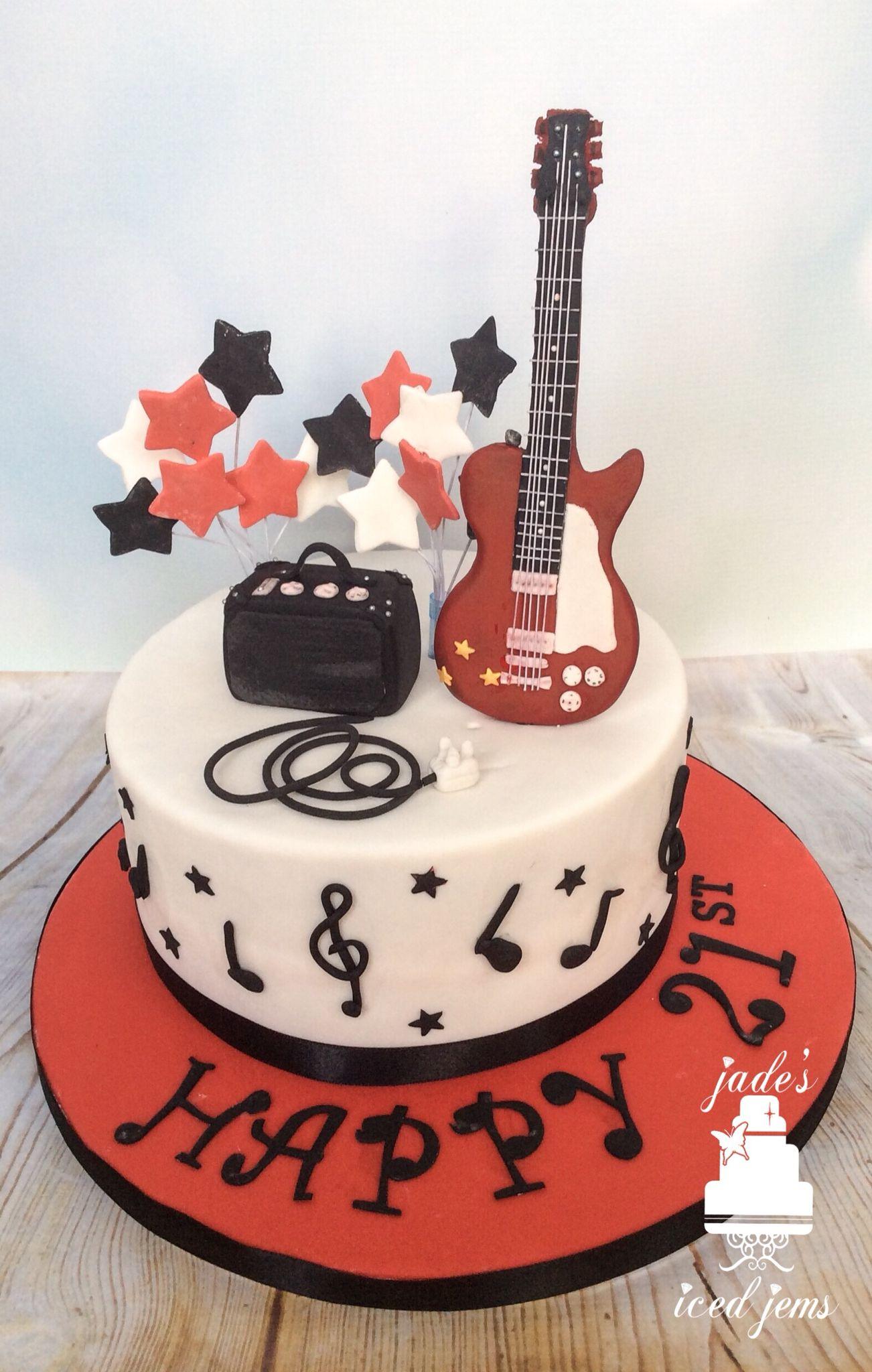 Guitar Birthday Cake Guitar Cake Music Cake 21st Birthday Cake