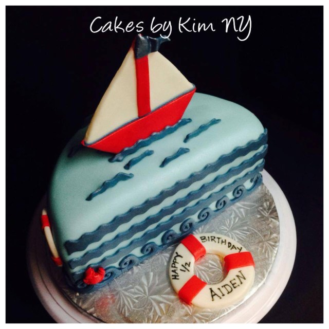 Half Birthday Cake Nautical Half Birthday Cake