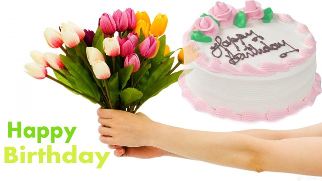 Happy Birthday Cake And Flowers Images Online Cake Flowers Delivery In Hyderabad Sn Flowers N Gifts