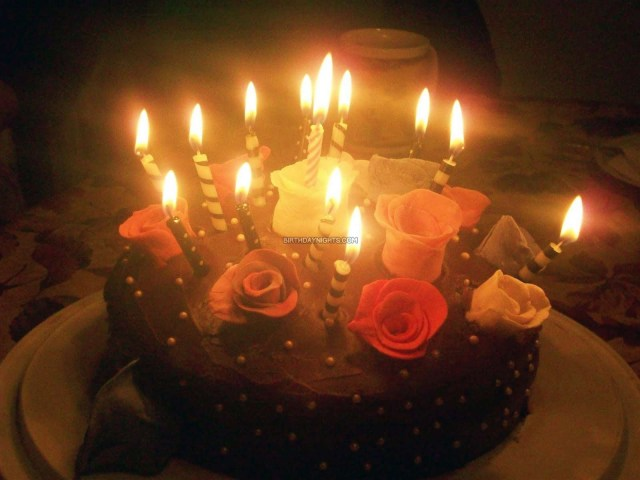 Happy Birthday Cake With Candles Candle Birthday Cakes
