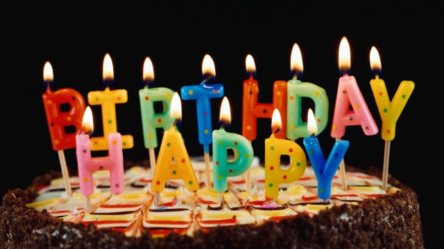 Happy Birthday Cake With Candles Festive Candles Happy Birthday On A Cake Stock Video Footage