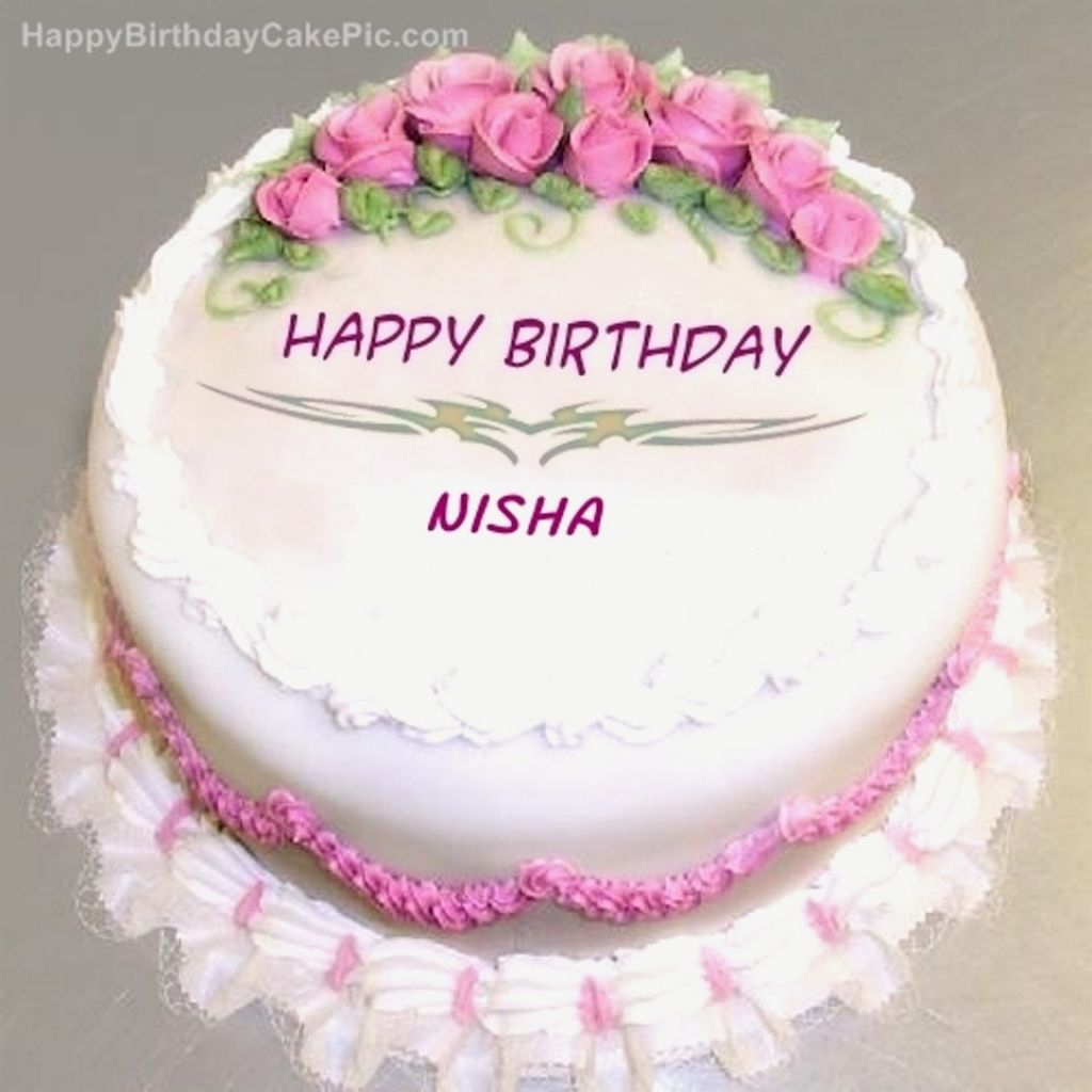 Happy Birthday Cakes With Name Amazing Birthday Cake Pic With Name Nisha For Winsome Birthday