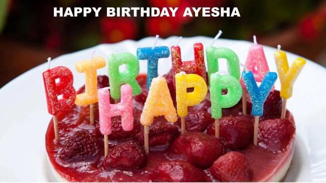 Happy Birthday Cakes With Name Ayesha Birthday Song Cakes Happy Birthday Ayesha Youtube