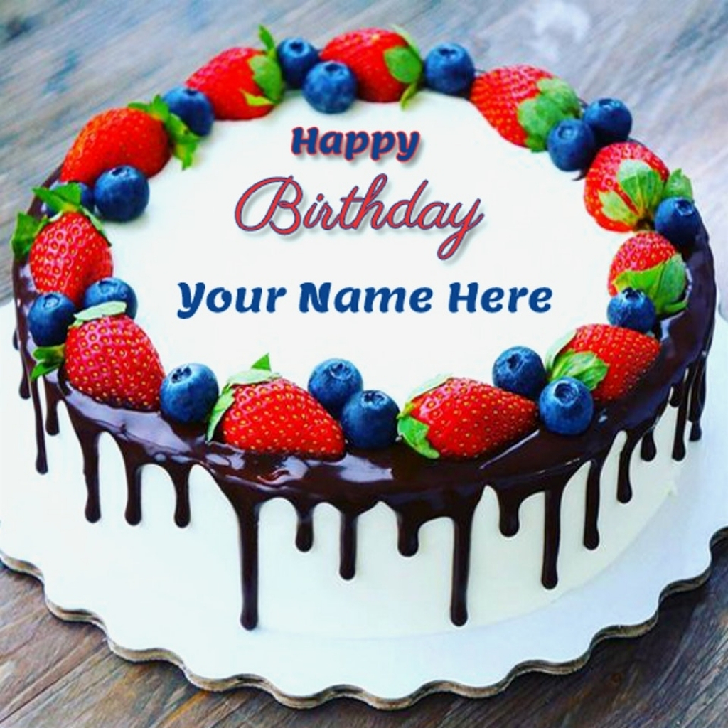 Happy Birthday Cakes With Name Images Of Cake Maker Online Within