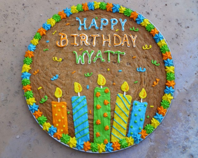 Happy Birthday Cookie Cake Indulge With Me Wyatts Birthday Cookie