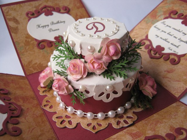 Happy Birthday Diana Cake Stamping Cowgirl Creations Low Cal Birthday Cake