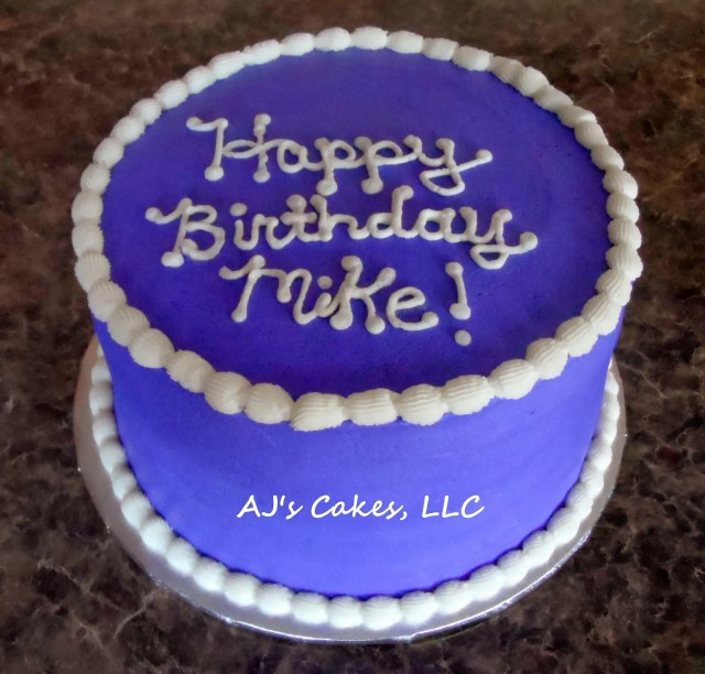 Happy Birthday Mike Cake Ajs Cakes Purple Cake For Mike