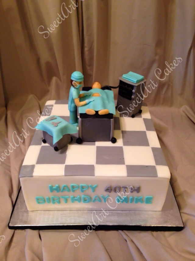Happy Birthday Mike Cake Doctor Cake Happy 40th Birthday Mike Sweetart Cakes Pinterest
