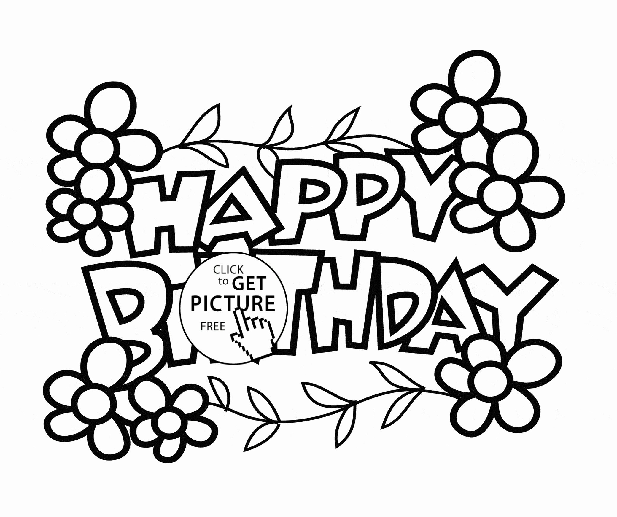 Happy Birthday Mom Coloring Page Happy Birthday Mom Cards ...