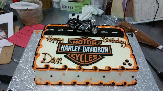 Harley Davidson Birthday Cake Harley Davidson Theme Birthday Cake Buttercream Frosted With