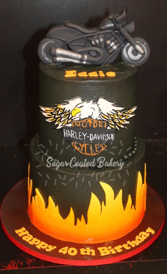 Harley Davidson Birthday Cake Sugar Coated Bakery Lowell Baking Everyday Better