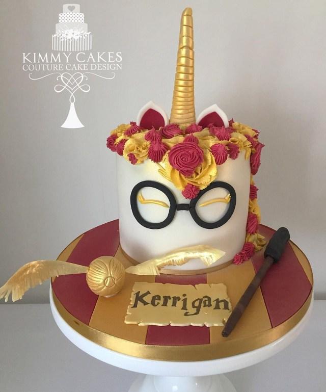 Harry Potter Birthday Cake Harry Potter Unicorn Cake From Kimmycakesccd Kimmycakesccd