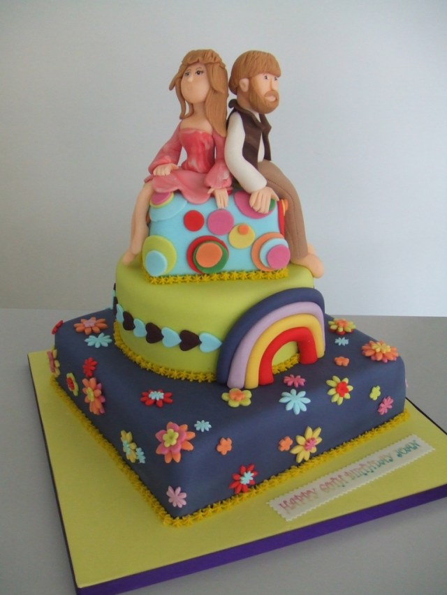 Hippie Birthday Cake Cake Hippie Birthday Jules Enquiriescakechestercouk Flickr