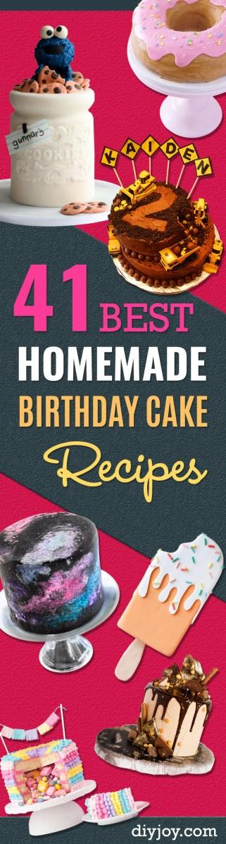 Homemade Birthday Cake Recipes 41 Best Homemade Birthday Cake Recipes