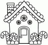 House Coloring Pages Coloring Pages Gingerbread House Coloring Staggering Picture