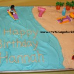 How To Make Birthday Cake How To Make A Budget Beach Party Birthday Cake Stretching A Buck