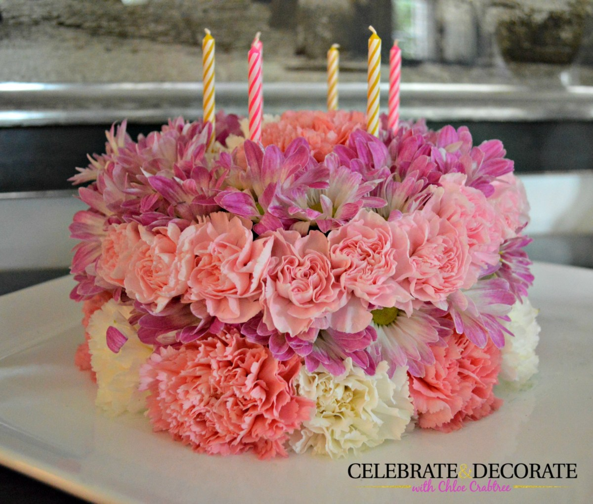 How To Make Birthday Cake How To Make A Floral Birthday Cake Celebrate Decorate