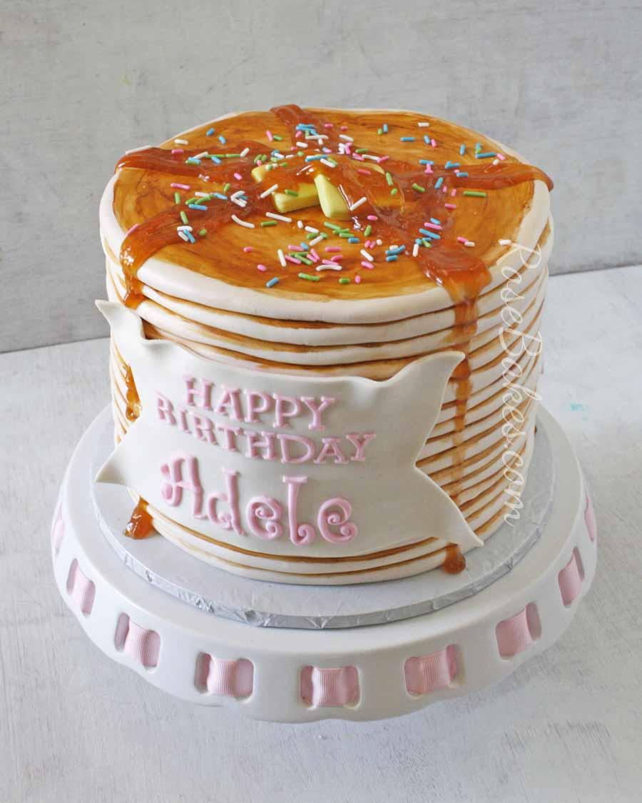How To Make Birthday Cake How To Make A Pancake Cake Rose Bakes