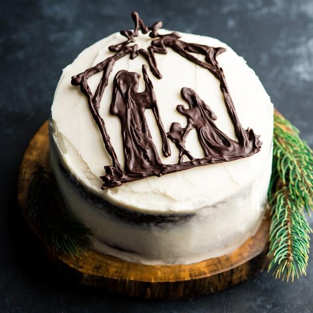 How To Make Birthday Cake Nativity Cake Birthday Cake For Jesus Joyfoodsunshine