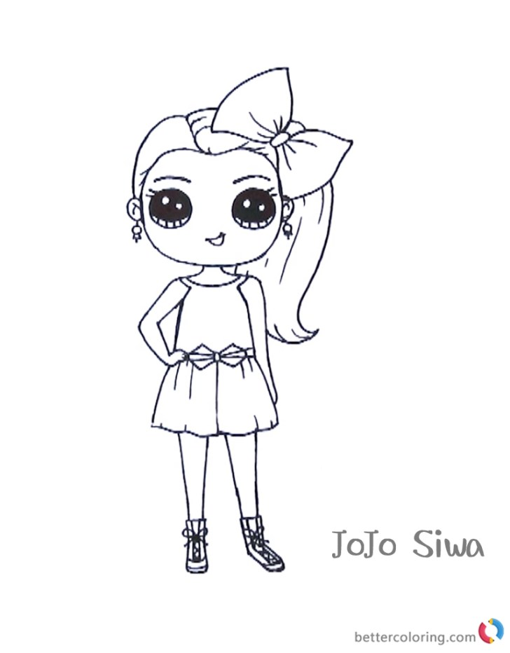 Beautiful Picture of Jojo Siwa Coloring Pages