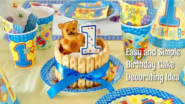 Kawaii Birthday Cake Happy 1st Birthday Easy And Kawaii Birthday Cake Decorating Idea