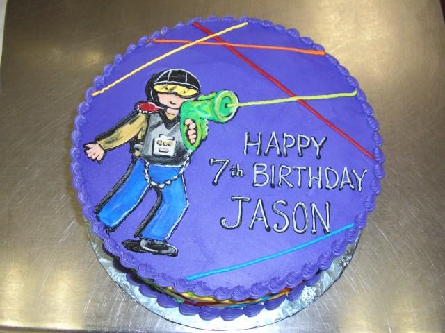 Laser Tag Birthday Cake Kids Cakes