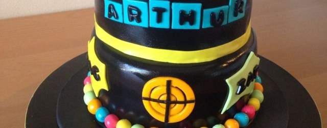 Laser Tag Birthday Cake Laser Tag Birthday Cake I Made This Chocolate Cake With Whipped