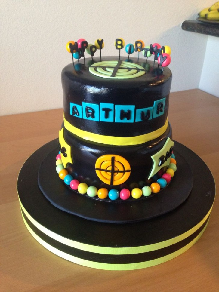 34+ Exclusive Image of Laser Tag Birthday Cake