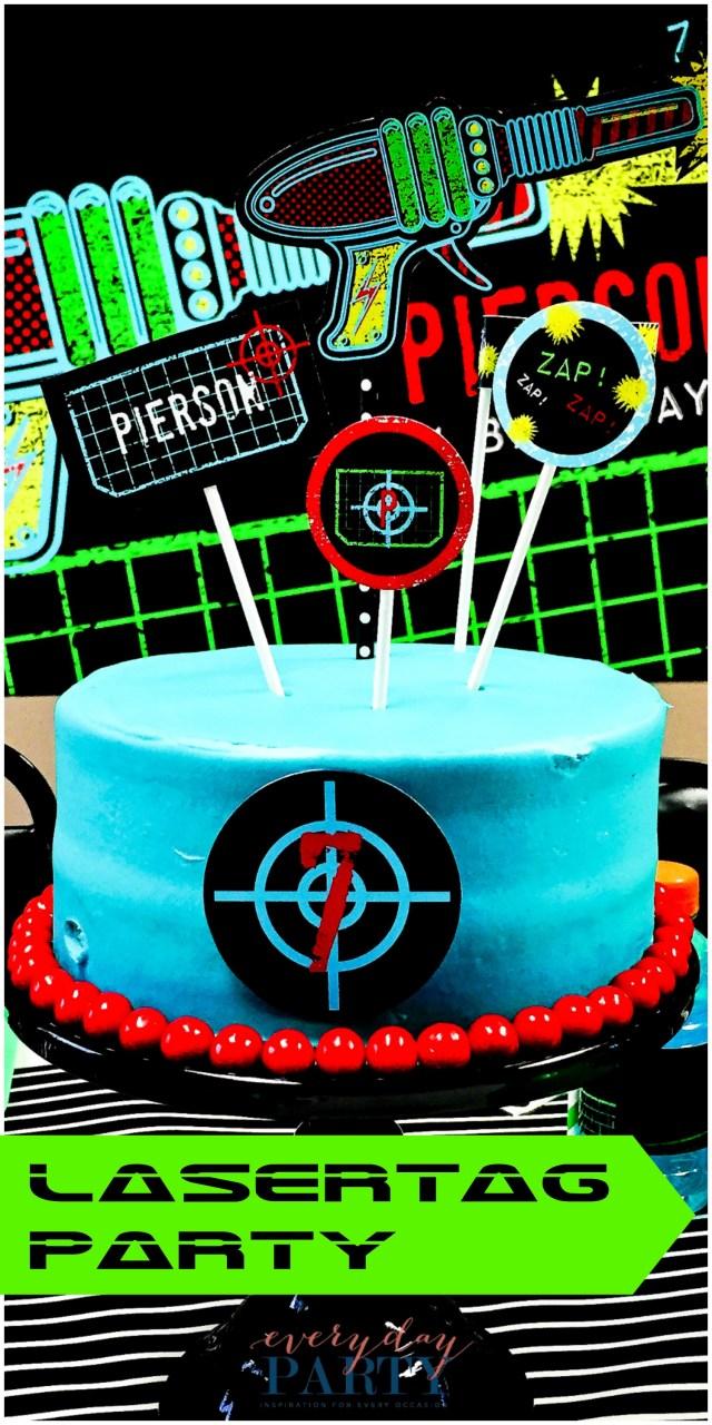 Laser Tag Birthday Cake Laser Tag Birthday Party Everyday Party Magazine