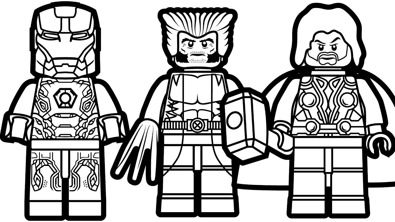 Lego Coloring Pages Lego Superhero Coloring Pages With Iron Man Also Ninjago Free Kids