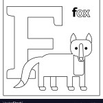 Letter F Coloring Page Fox Letter F Coloring Page Royalty Free Vector Image