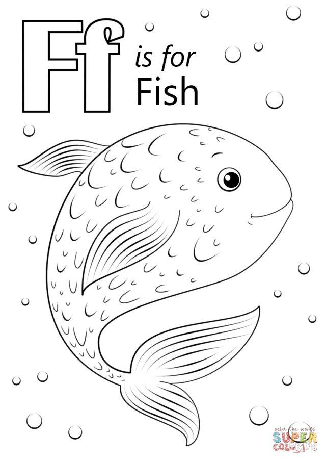Letter F Coloring Page Letter F Is For Fish Coloring Page Free Printable Coloring Pages