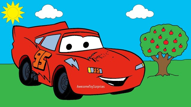Lightning Mcqueen Coloring Pages Disney Cars Lightning Mcqueen Coloring Page Activity For Kids