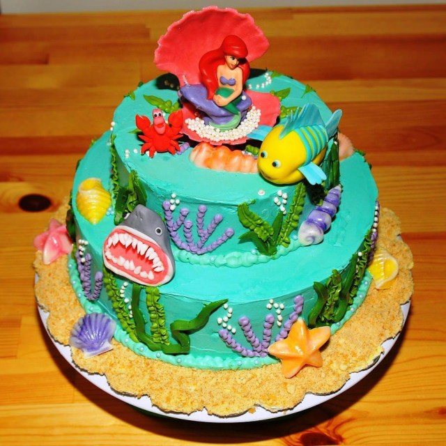 Little Mermaid Birthday Cake Walmart 9 Little Mermaid Round Cakes Photo Little Mermaid Cake Ariel