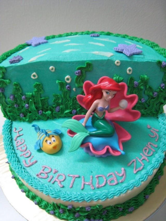 Little Mermaid Birthday Cake Walmart Birthday Cake Ideas Sea Ocean Beach Doll Adorable Little Mermaid