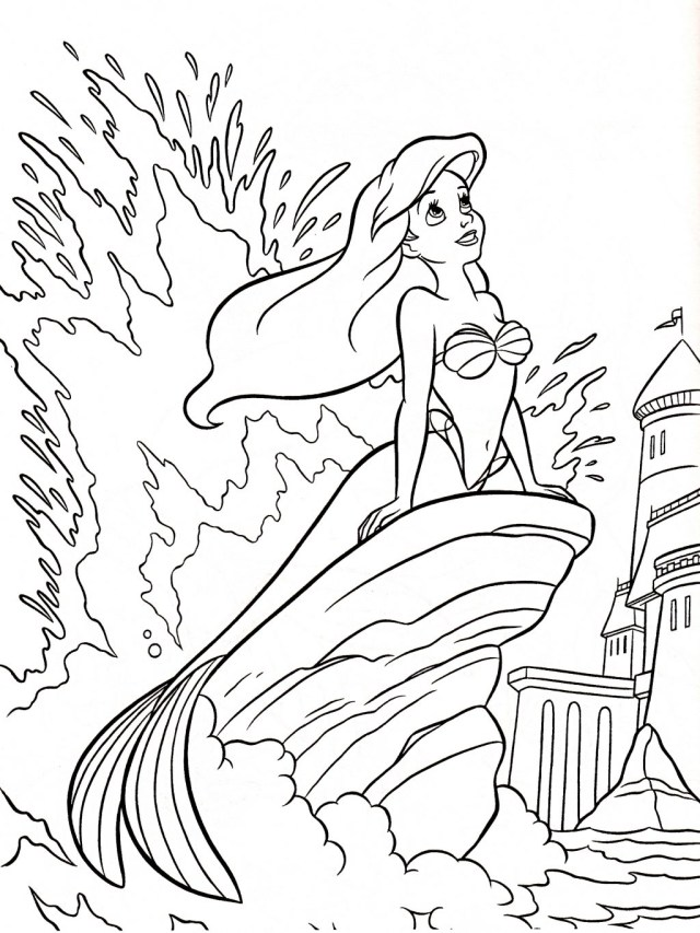 Little Mermaid Coloring Pages Coloring Page Coloring Page Ariel Little Mermaid Pages Printables