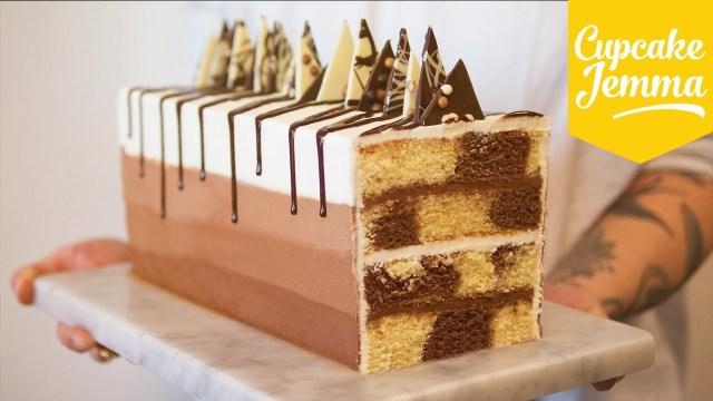 Marble Birthday Cake Recipe Rectangular Chocolate Marble Cake Recipe Cupcake Jemma Youtube