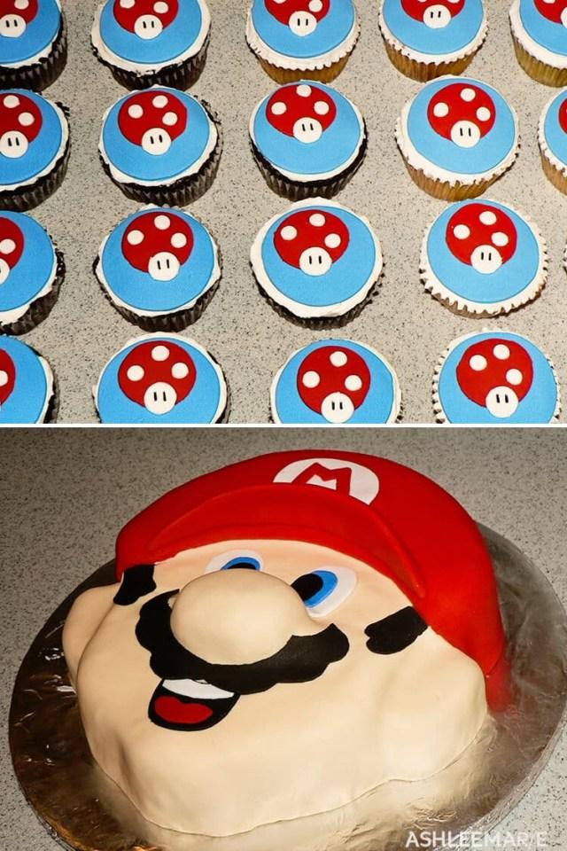 Mario Birthday Cake Mario Birthday Cakes And Cupcakes Ashlee Marie Real Fun With