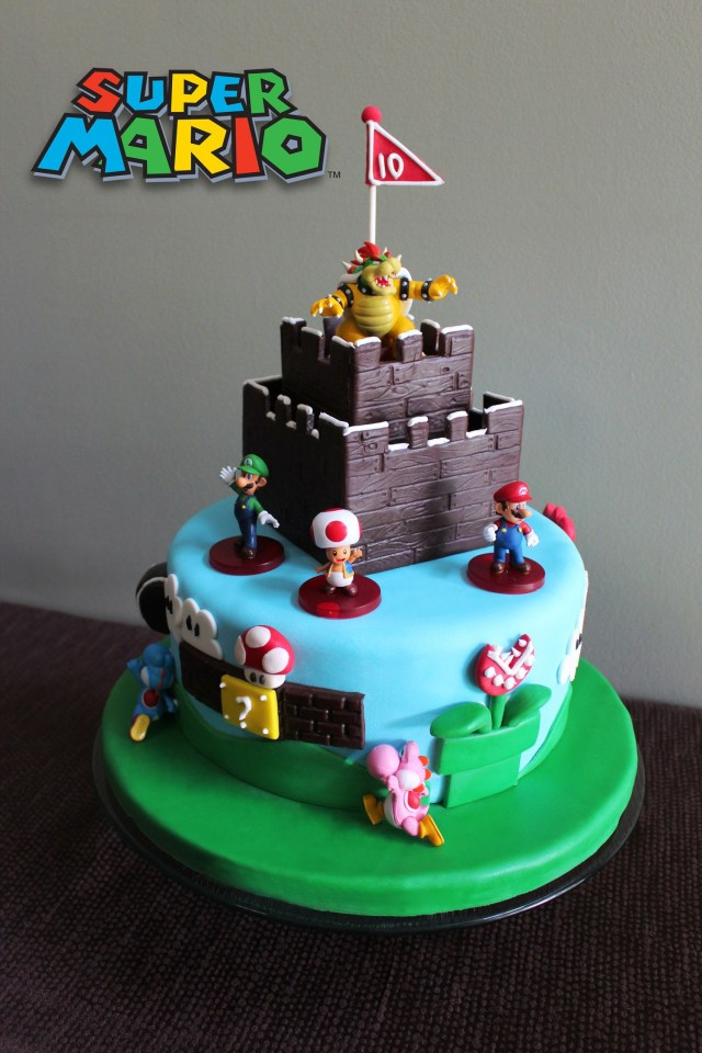 Mario Birthday Cake Super Mario Birthday Cakeour Boys Would Go Crazy If This Was The
