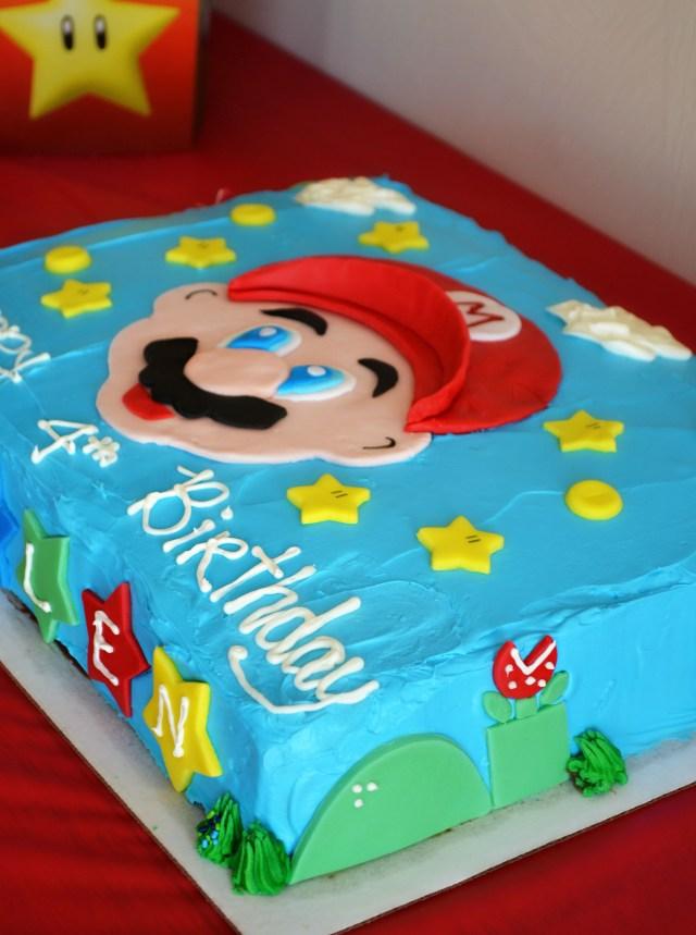 Mario Birthday Cake Super Mario Brothers Party Happy Birthday Kallen Life In The