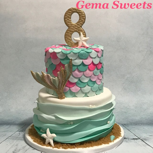 Mermaid Birthday Cakes Mermaid Under The Sea Cake Gema Sweets My Creations