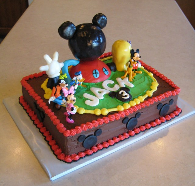 Mickey Mouse Birthday Cake Ideas Cakes For Boys Classic Style