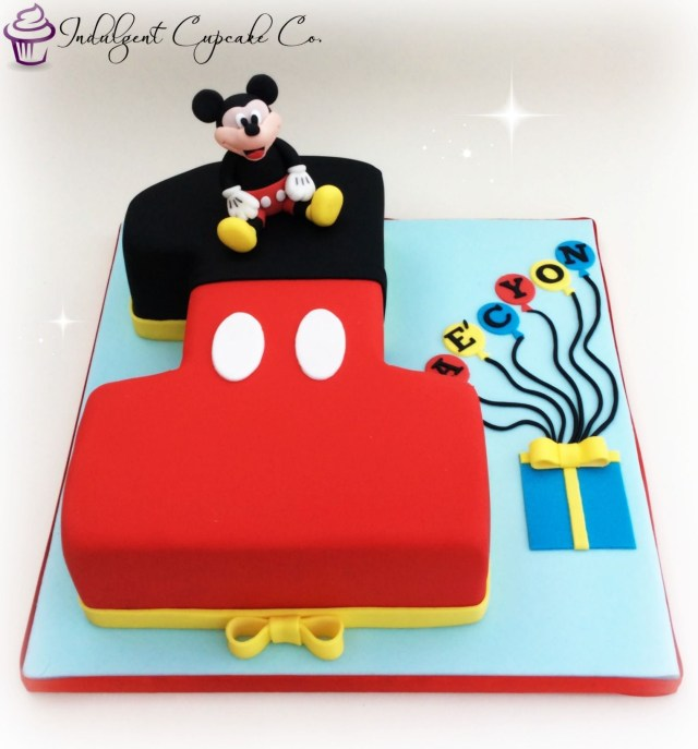 Mickey Mouse Birthday Cake Ideas Mickey Mouse Number 1 Cake Coltans 1st Birthday Ideas