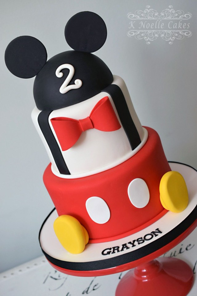 Mickey Mouse Birthday Cake Ideas Mickey Mouse Themed Cake K Noelle Cakes Disneys Mickeyminnie