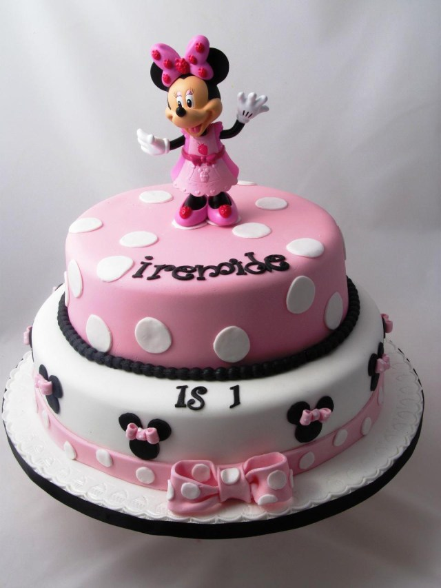 Mickey Mouse Birthday Cake Ideas Minnie Mouse Birthday Cakes With Cupcakes Set At Walmart