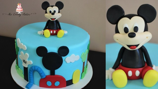 Mickey Mouse Birthday Cakes Disney Mickey Mouse Clubhouse Cake Tutorial Youtube