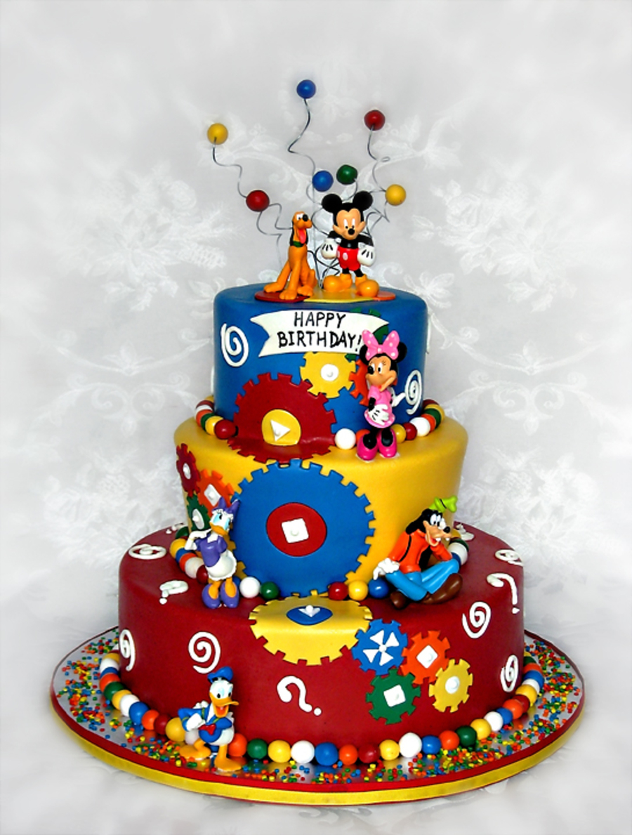 Mickey Mouse Clubhouse Birthday Cakes Mickey Mouse Clubhouse Theme Birthday Cake Cakecentral