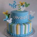 Mickey Mouse First Birthday Cake Ba Mickey First Birthday Cake Lil Miss Cakes