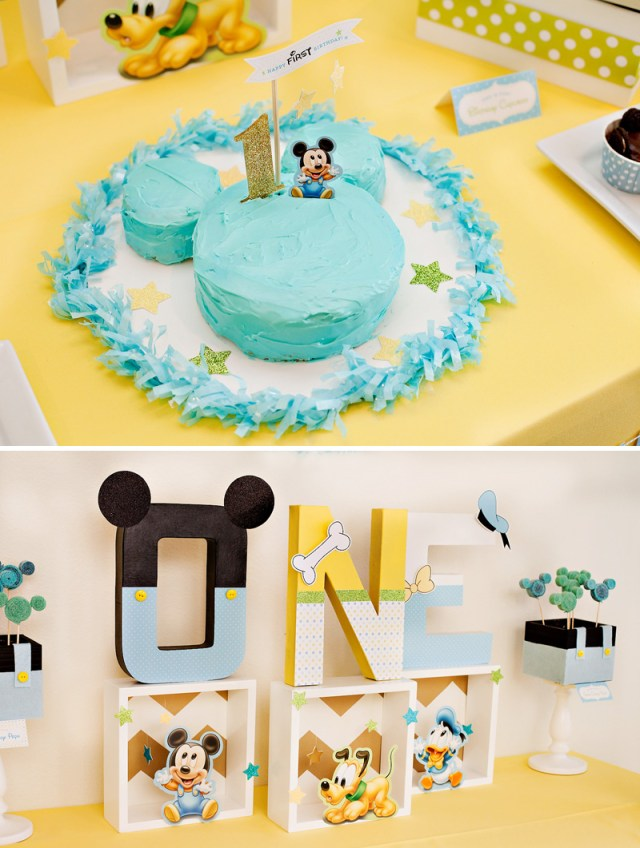 Mickey Mouse First Birthday Cake Creative Mickey Mouse 1st Birthday Party Ideas Free Printables